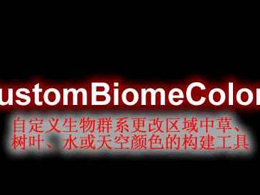 [1.16.X-1.17.X]CustomBiomeColors自定义更改生物颜色插件
